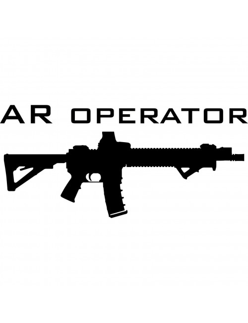 AR Operator decal | Black