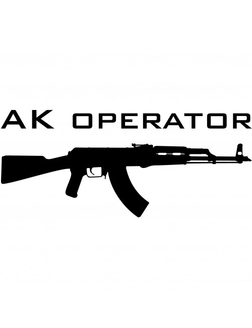 AK Operator decal | Black