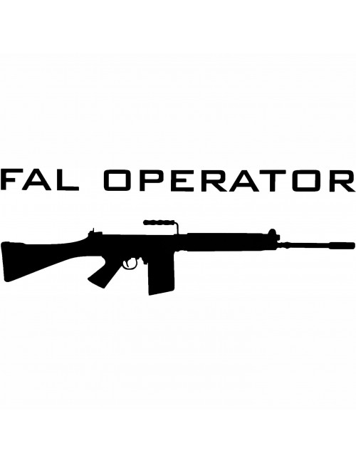 FAL Operator decal | Black