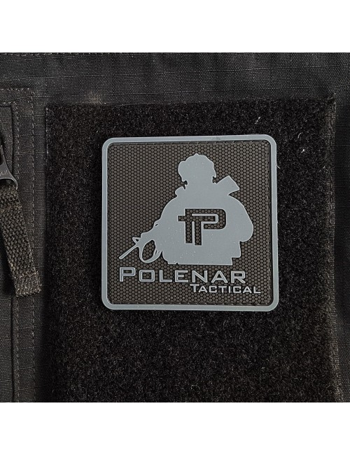 PT logo PVC patch | Black/Grey